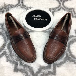Allen Edmonds HOLTON Brown Loafers 9.5 D